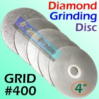 "Grinding Disc 100mm 4"" Grid #400 Diamond Batu Gerinda Full Double Side"