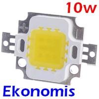 High Power LED 10W Ekonomis Lampu Putih White Emitter Bead 9-12V
