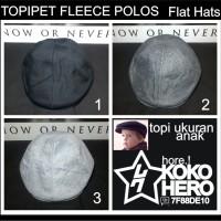 topi pet Anak Fleece Topipet Newsboy Hat Polos Warna Warni Polosan
