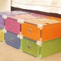 Kotak Box Tempat Sepatu - Plastik Transparan - Harga Murah Berkualitas