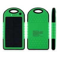 Jual Solar Power Bank Tenaga Matahari / Surya - Waterproof - 5000mah Murah