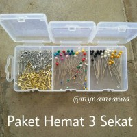 harga Paket Hemat Jarum Pentul Dan Peniti Premium Newey 3 Sekat Tokopedia.com