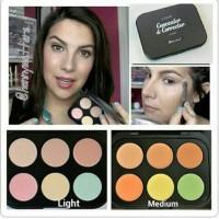 BH COSMETICS 6 color concealer n corrector palette