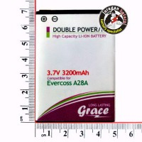 Batre/Batrei/Baterai CROSS/EVERCOSS A28A 3200mAh GRACE Double Power