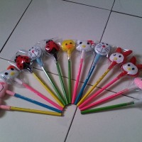 Pensil Hias Karakter Kartun - Hello Kitty, Shaun The Sheep, Dora Emon, Dll