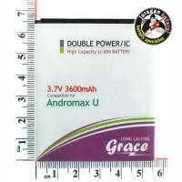 Batere / Batrei / Baterai Grace Bl-4n-i For Smartfren Andromax U (i6c), Limited Edition - 3600mah Double Power
