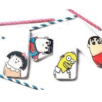 Casing HP Unik Lazy Case Maruko Superman shimpson shincan Iphone 4/4s