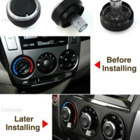 Kenop Knob AC Honda Fit Brio Mobilio City Jazz Freed dll Black Chrome
