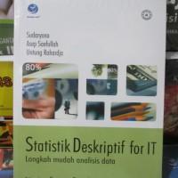 harga Statistik Deskriptif For It Langkah Mudah Analisis Data Tokopedia.com