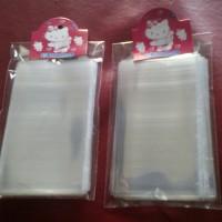 plastik bening / plastik kaca ukuran 6x10cm harga per pak isi 50pcs