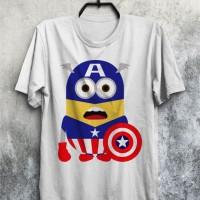 Jual Baju Kaos Minion Captain America Keren Murah Kualitas Bagus