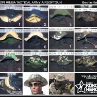 Topi Rimba Bolak Balik 2 warna polos polosan Tactical Army Outdoor Hat