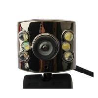 USB 3M 6 LED Webcam Camera with Mic Web Cam For Desktop PC Laptop Note