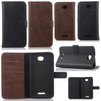 Agenda Standing Leather Book Sony Xperia E4 / E4 Dual