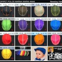 topi pet Anak Bayi Topipet Kanvas polos polosan Baby Newsboy flat cap