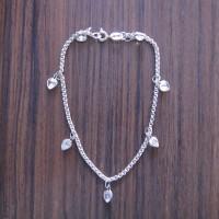 harga Perhiasan gelang rantai perak 925 dengan permata hati Tokopedia.com