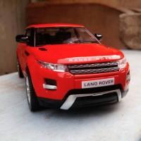Range Rover Land Rover Evoque merah bendera Diecast miniatur