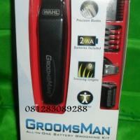Alat cukur kumis, jambang dan jenggot Dengan Hasil Ukuran ataupun Licin Elektrik Wahl Groomsman