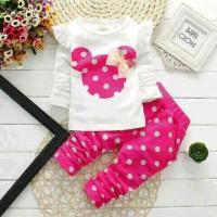 Set Minnie Mouse Pink Polka