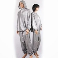 sauna suit / baju sauna (ADA TOPI - RESLETING)