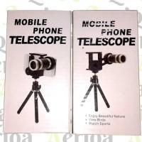 Jual Tele Lens / Lensa Tele Zoom 8x + Tripod Mini - Phone Telescope Murah