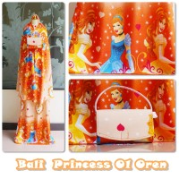 Mukena anak bali princess orange