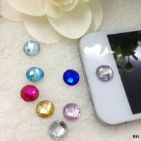 Sticker Home Button Iphone 4 5 5s 6 / Ipad / Ipod Crystal