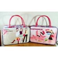 Travel Bag Kanvas Karakter Shoppa Holic ( Free Ongkir )