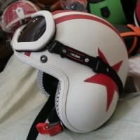 harga Helm Pilot Putih Merah Kacamata Tokopedia.com