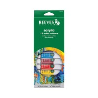 REEVES ACRYLIC SET 12 COLOUR / CAT AKRILIK 12 WARNA