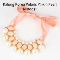Kalung Korea Polaris Pink 9 Pearl KN10031