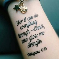 I Can Do Anything Flp4:13 - Temporary Tattoo