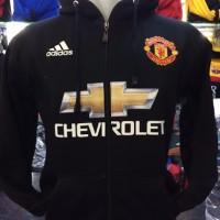 Jaket Zipper Manchester United Full Black 2015/2016