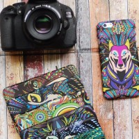 Casing HP Unik Luxo Colorfull Wolf Iphone 4/4s/5/5s/6 S4/S5 Note 3