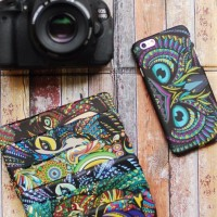 Casing HP Unik Luxo Owl Eyes Iphone 4/4s/5/5s/6 S4/S5 Note 3