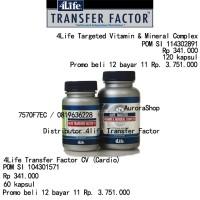 4LIFE Transfer Factor CV (Cardio Vascular) dan Vitamin Mineral Complex