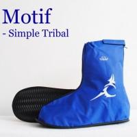 Jual Jas Hujan Sepatu Motif Simple Tribal Murah