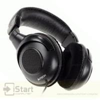 Headset Game Stereo A4Tech Black Kabel / Gaming Wired Headphone HU 111