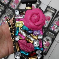 harga casing iphone 5 , 5s  case parfum batu permata Tokopedia.com