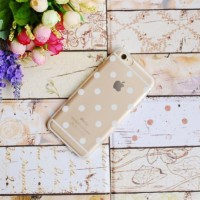 Casing HP Unik Polkadot Case Gold Iphone 4/4S Iphone 5/5S Iphone 6