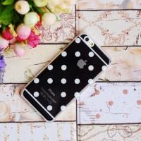 Casing HP Unik Polkadot Case Black Iphone 4/4S Iphone 5/5S Iphone 6