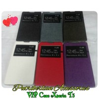 Sony Xperia T3 Flip Leather Case Vip View Cover (casing Xperia T3)