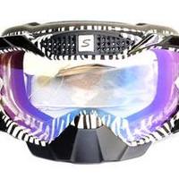 Snail Kaca Mata Goggle MX36 Kaca Pelangi - Hitam-Putih