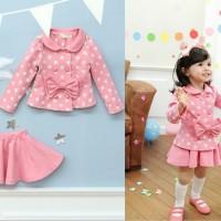 Baju Anak - Pink Polka Set (GI-226)