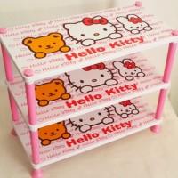 Rak Plastik 3 Susun Hello Kitty A