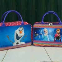 Travel Bag Kanvas Karakter Kartun Frozen Olaf Blue ( Free Ongkir )
