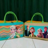 Travel Bag Kanvas Karakter Kartun Frozen Fever ( Free Ongkir )