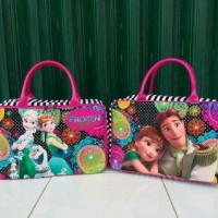 Travel Bag Kanvas Frozen Ollaf Salur Pink (free ongkir)