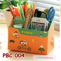 DIY Paper Pencil Box Case Kits Picnic l Organizer Alat Tulis - PBC 004