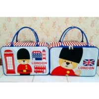 Travel Bag Kanvas Karakter London New Arrival (free ongkir)